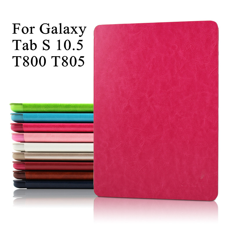 T800 PU Leather Flip Book Cover Tablet Stand Case Brand Luxury Ultra Thin Smart Case for Samsung Galaxy Tab S 10.5 T800 T805