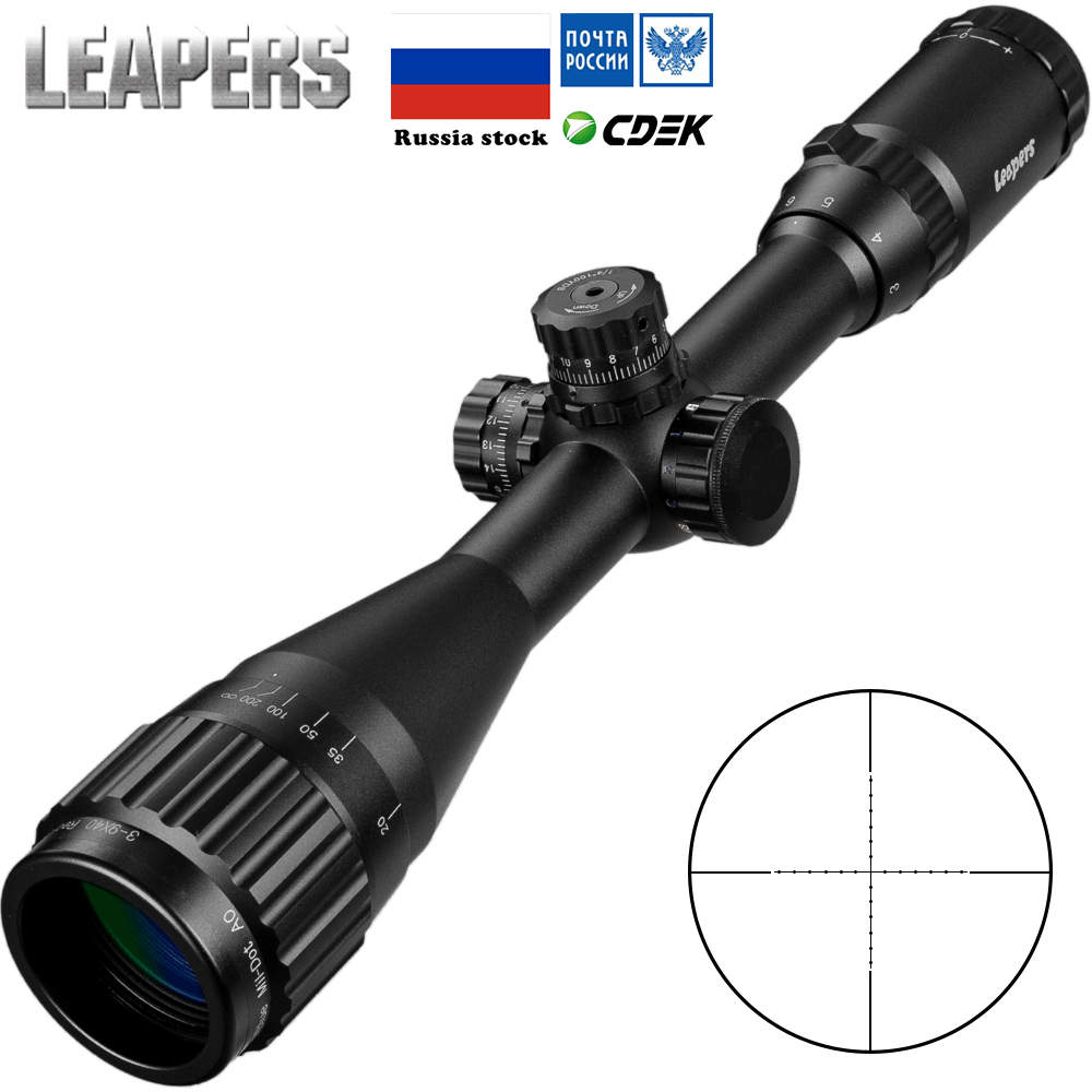 LEAPERS 3-9X40 Scope Red Green Blue Dot Sight Illuminated Retical Sight Hunting Scopes Riflescope Tactical Optical Rifle