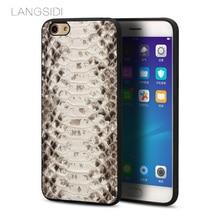 Wangcangli brand mobile phone case natural python skin phone cover For OPPO R9 Plus full handmade custom processing нож msr msr alpine kitchen синий