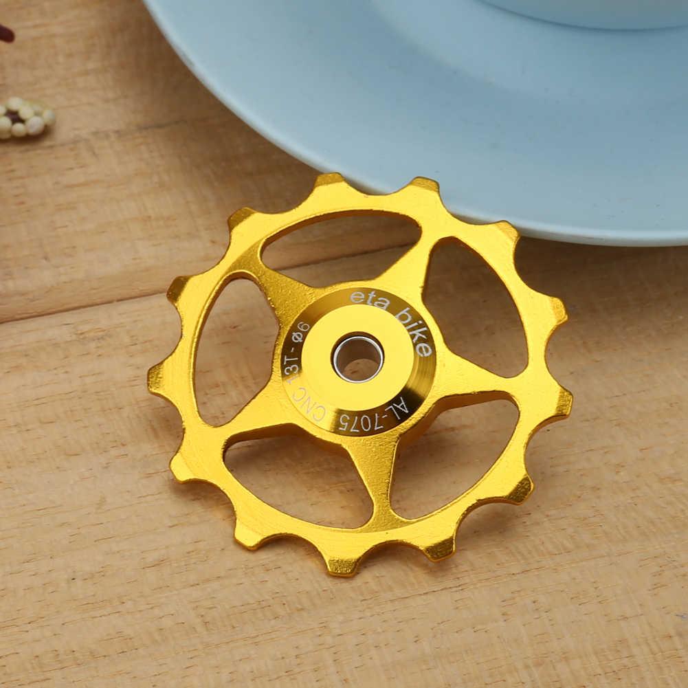 Bicyclette arrière dérailleur poulie 13 T roue de guidage en alliage d'aluminium vélo arrière dérailleur dents guide roue poulie partie cyclisme nouveau