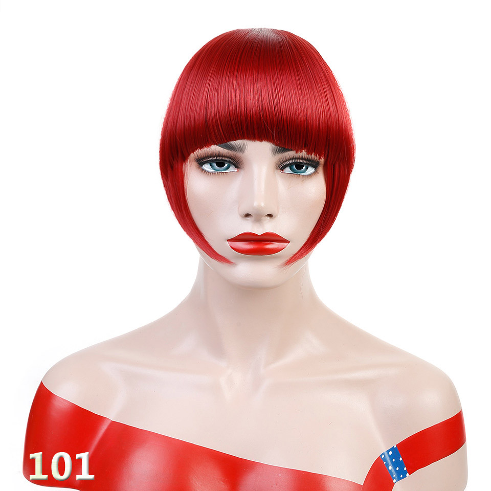 Yelo Malaysische Mode Menschliches Clip Haar Extensions Kurze Vordere Pony Fransen Remy Haar 6 Farbe Stil Ein Stück Freies Verschiffen Haarverlängerung Und Perücken Haarteile