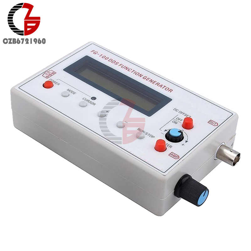 Digital DDS Function Signal Generator Module Sine Wave Triangle Wave Square  Wave Generator Frequency 1HZ-500KHz USB to DC Cable