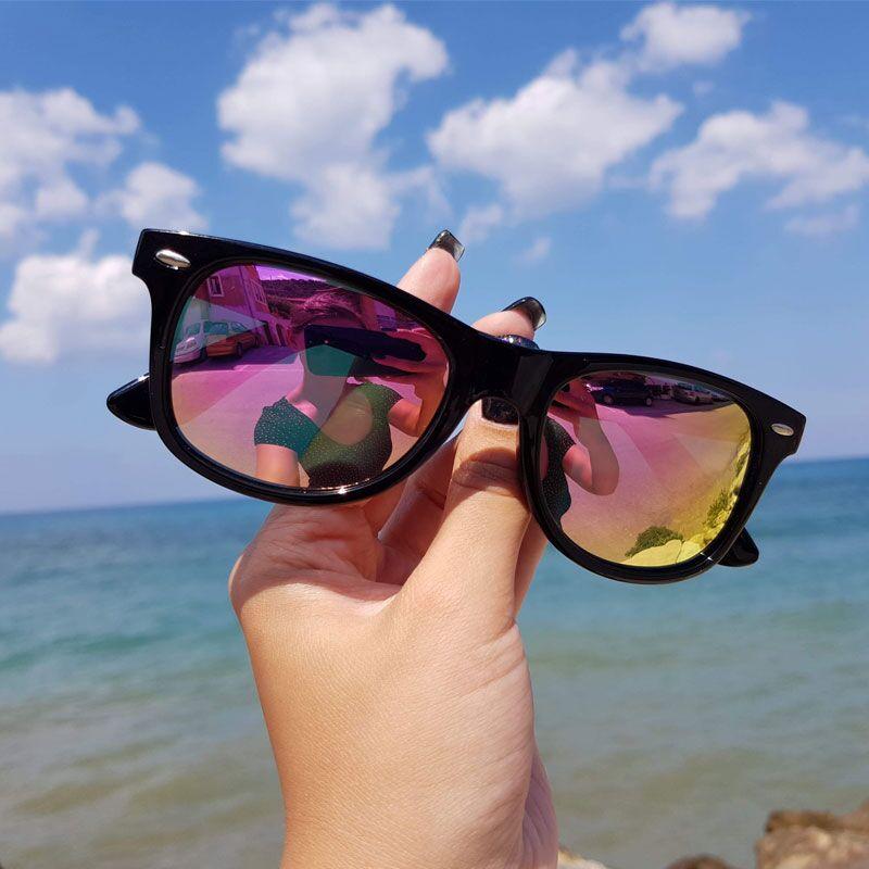 WESHION Sunglasses Women Men Polarized Retro Small Vintage Classic Pink Brand Sun Glasses 2018 Shades UV400 Oculos De Sol Gafas
