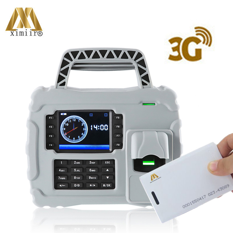 Standalone Waterproof S922 TCP/IP Built-in Battery 126KHz RFID Card Fingerprint Time Attendance With 3G Function
