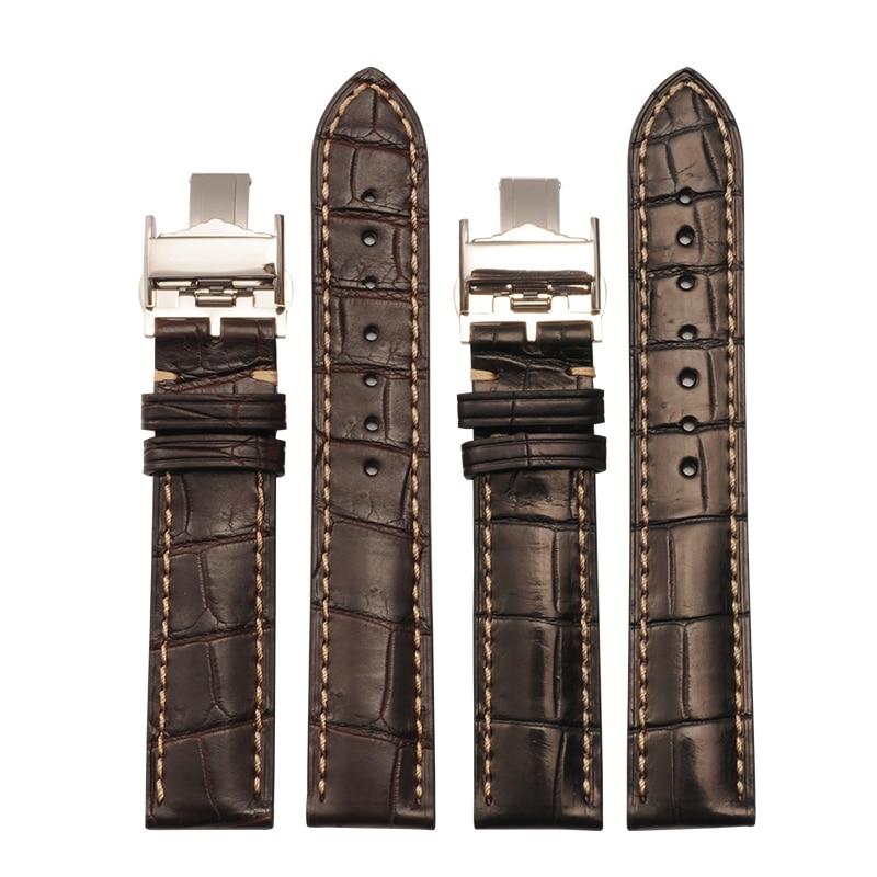 Original Quality 13 14 18 20 21 mm Crocodile Leather Straps For Longines For Watches Alligator Watch Band Strap Bracelet Belt часы longines