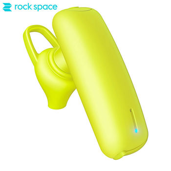 ROCKSPACE Sugar Candy Design Mini LED Silicone Single Bluetooth Earpiece Car Stereo Bass Auto Noise Cancelling For Cell Phone rockspace eb30