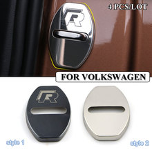 Car-styling Stainless Steel car covers Door lock cover case for VW Volkswagen polo golf passat accessories car styling sticker