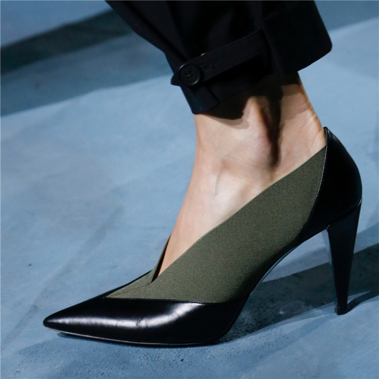 Designer New 2019 Fashion Week T Show Women Pumps Pointed Toe V Shallow Slip On Ladies Shoes High Heels Stilettos Party Zapatos - 3