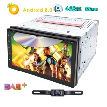 2Din Android8.0 Universal Car DVD Player GPS Navigation Map WIFI4G BT Radio Player Multimedia For Honda Nissan VW BYD TOYOTA KIA