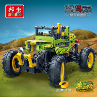 Banbao Tech Education Building Blocks Toys Boys Children City Cars Racing Models Compatible with Legoe
