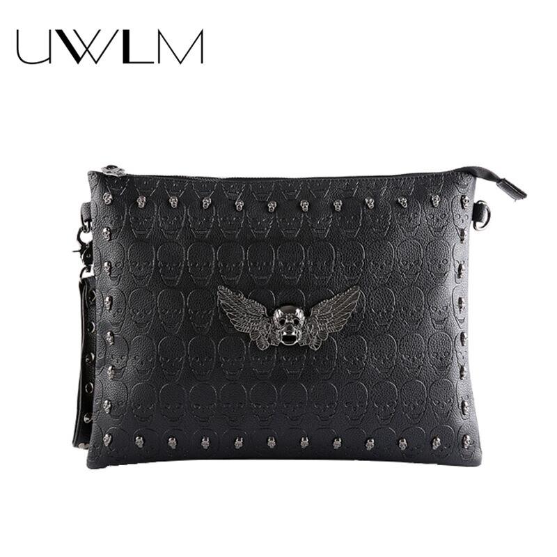 Luxury Rivets Clutch Bags Handbags Women Famous Brands Designer Crossbody Messenger Black Party Envelopes Shopping Clutch Bags
