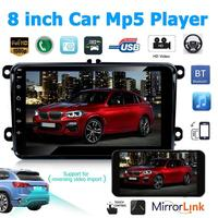 VODOOL 2 Din 8 Touch Screen Car Radio Android 8.1 Stereo MP5 Player GPS Navi Bluetooth WiFi FM Camera Multimedia Player For VW