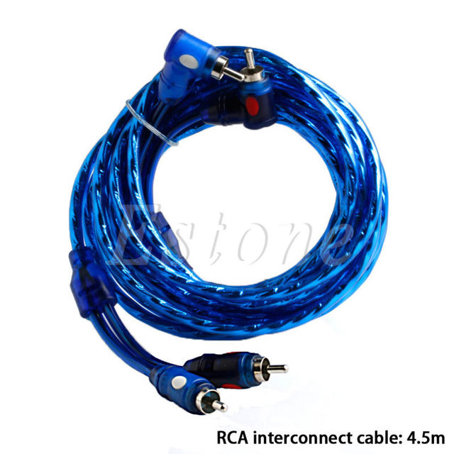 1500w car audio subwoofer sub amplifier amp rca wiring kit cable fuse rh m aliexpress com