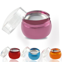 5 Colors Silicone Clear Stamper 4cm Transparent Jelly Nail Stamping Stamp Scraper Polish Print Transfer Tools 32-34