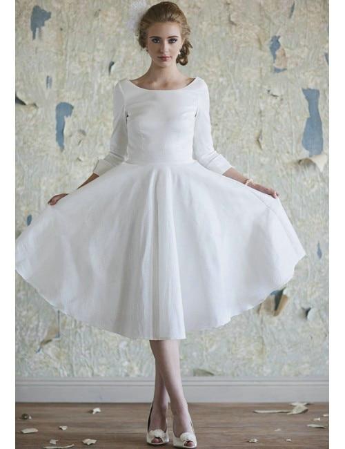 Short Wedding Dresses with Pockets