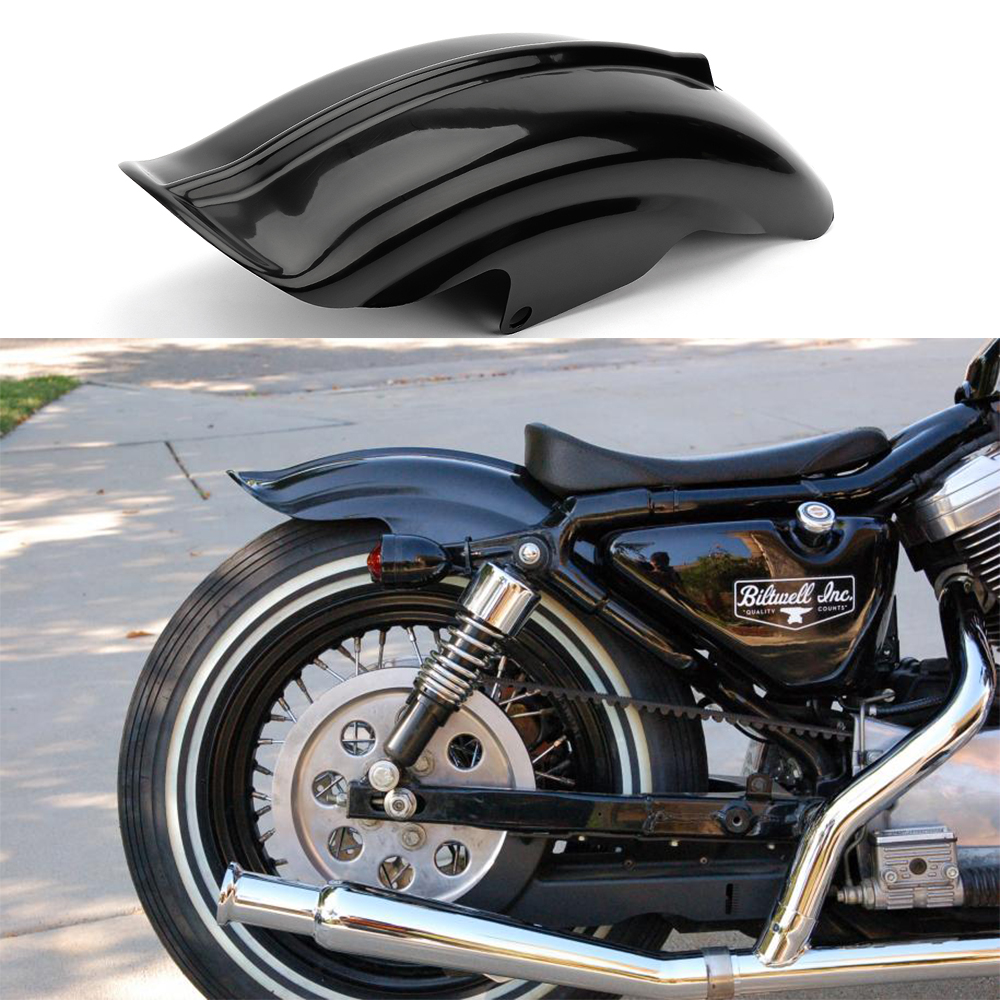 Glossy Black Rear Fender Mudguard For Sportster XLH883 XL 883 1200 Cafe Racer Solo Bobber Chopper 883 883R 1200 1994 -2003