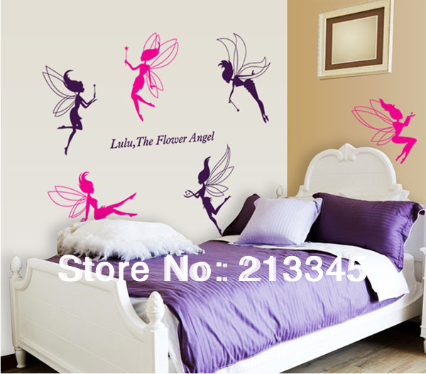 Home Decor Mural Art Wall Paper Stickers ~ Fundecor cute sex angel elf kids room wall paper