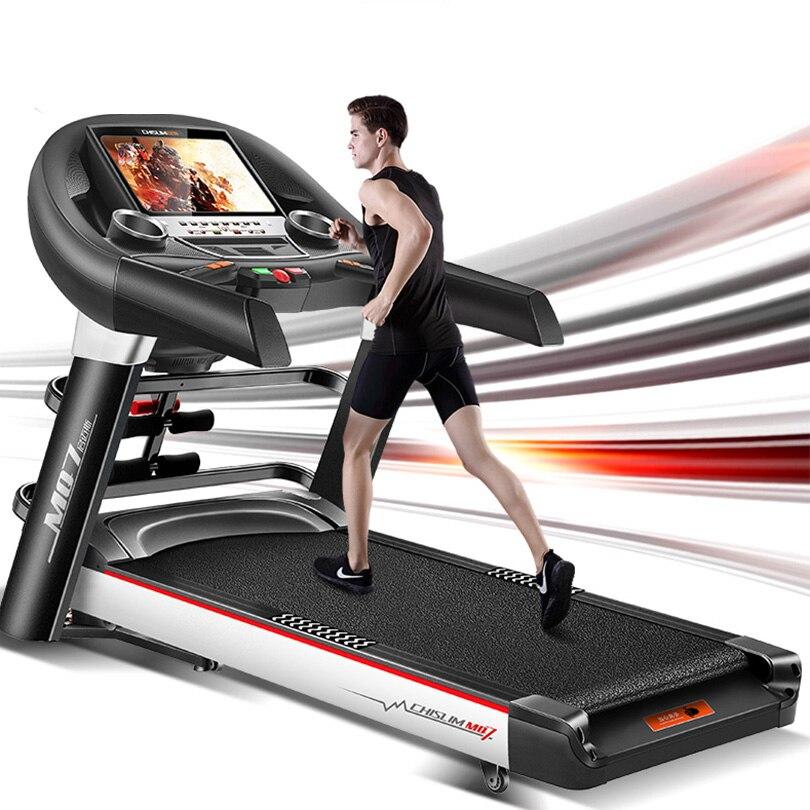 CHISLIM Baru 5.5HP Peralatan Fitness Treadmill Latihan Listrik - Kebugaran dan binaraga - Foto 3