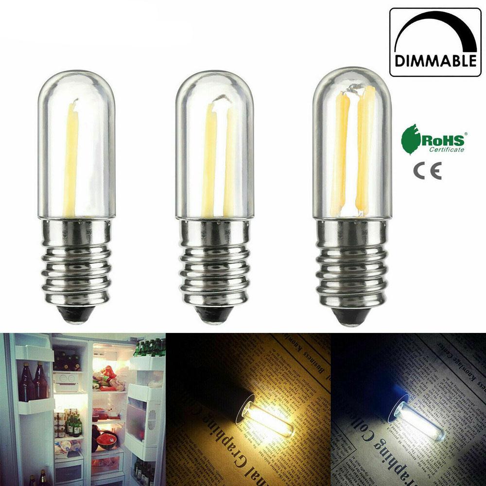 10Pcs/Set Dimmable Mini E14 E12 1W 2W 4W LED Fridge Freezer Filament Light COB Bulbs Lamp Warm / Cold White Lighting