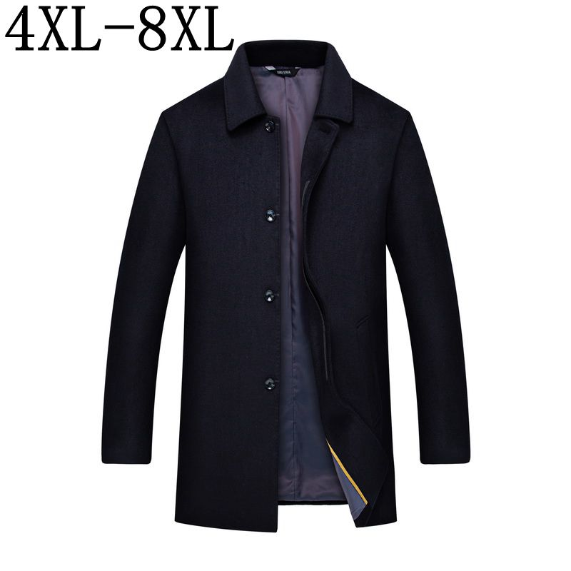 Men Clothes 2019 Autumn Winter New Long Wool Jacket Male Fashion Casual Thicken Slim Fit Mens