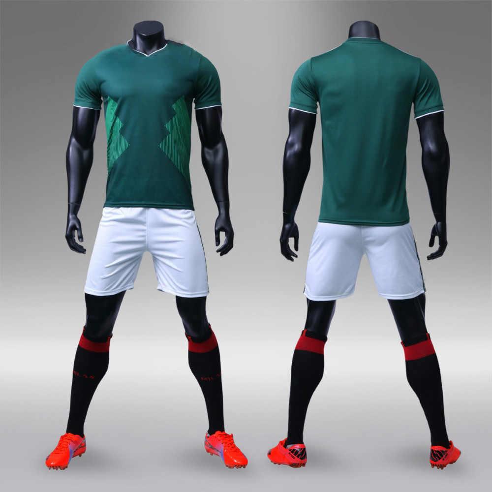 26a0a9eaed3 ... Football jerseys 2018 world Adults   children jerseys Blank Soccer  Training Suit Soccer Jersey   shorts