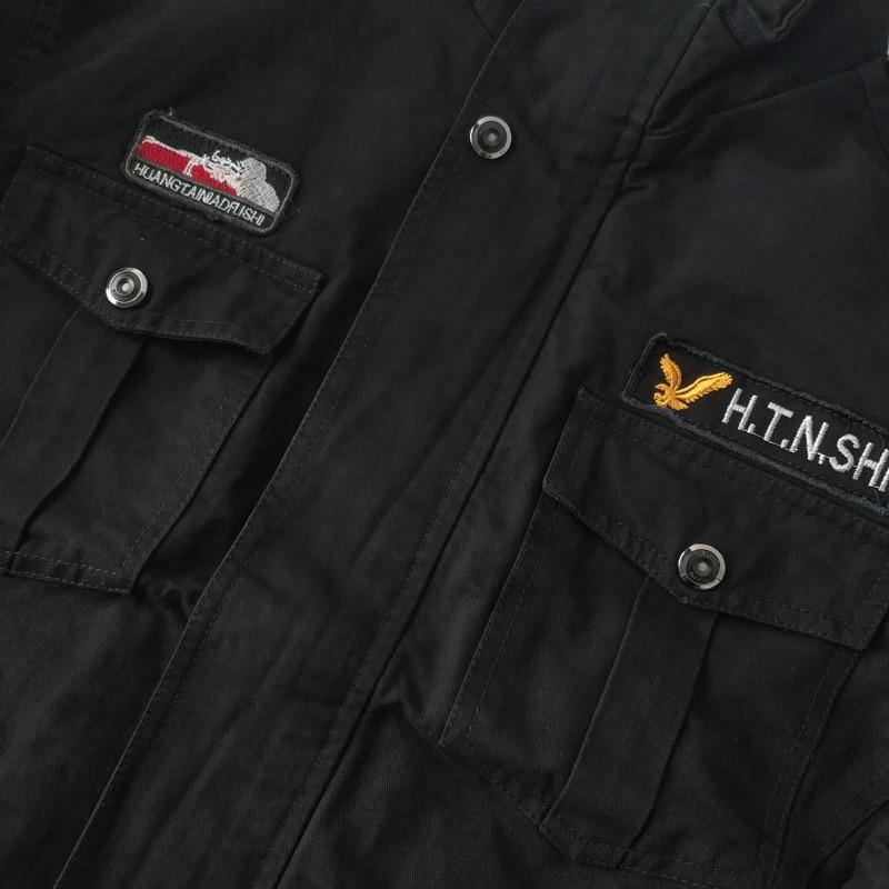Veshja e re e xhaketave të zeza të bombave të zeza të burrave, - Veshje për meshkuj - Foto 5