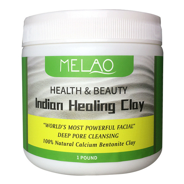 Indian Healing Clay Face Mask Powder Natural Deep Skin Pore Cleansing Moisturizing Replenishment Oil Control Shrink Pores 2