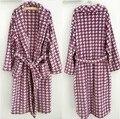 Purple Men bathrobes robe quality flannel