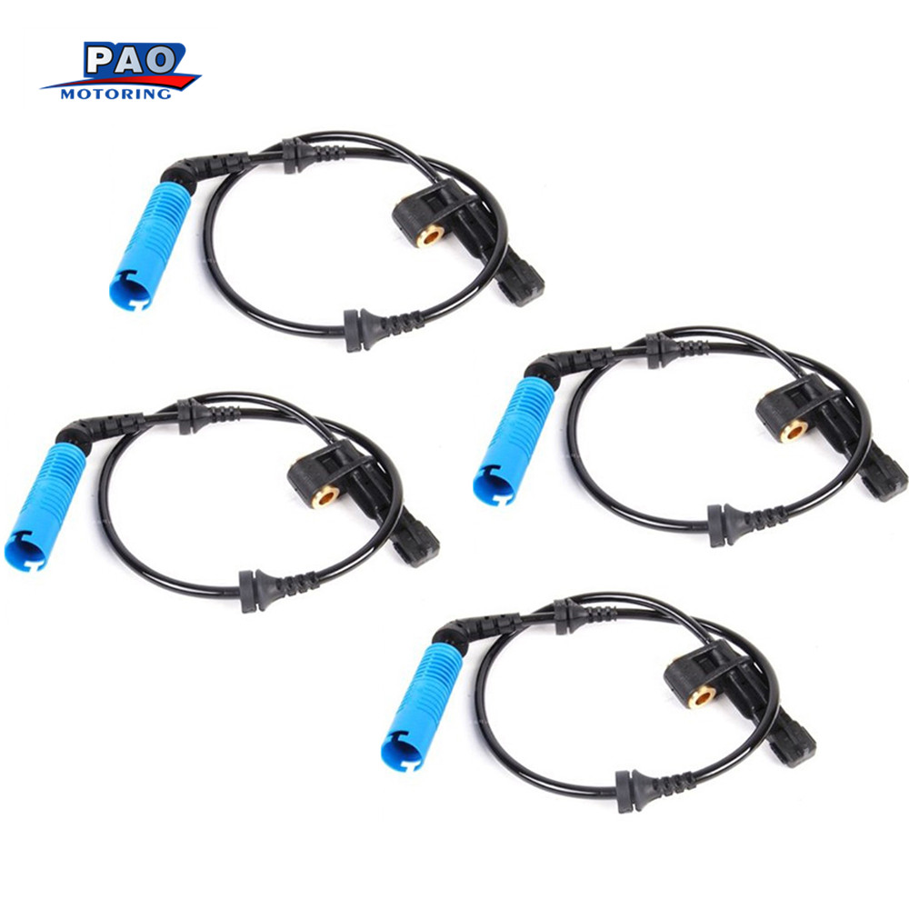 4PC ABS Wheel Speed Sensor Front Left For BMW E46 E85 E86 1999-2008 OEM 34526752681,3452 6752 681 Sensor Car Part