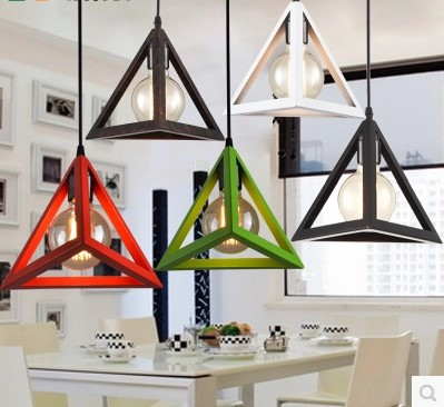 Industrial Loft Lamp Vintage Pendant Light Fixtures With Metal Lampshade,Lustre Para Sala Hanglampen