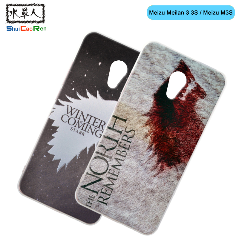 ShuiCaoRen Silicone Case For Meizu M3S Mini Retra Game of Thrones Cover Phone Coque Ice and Fire Fundas For Meizu M3S
