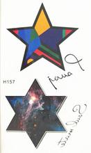 10x6cm Temporary Small Fashion Tattoo Cool Color Star Stars Waterproof Temporary Tattoo Stickers