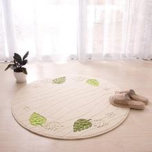 Round Floor Carpet Computer Chair Cushion Dressing Table Basket Mat Rocking Bedroom Blanket Turtle Bamboo Pattern