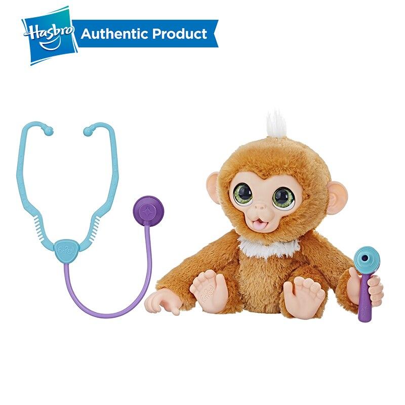 Hasbro Furreal Check-up Zandi Sweet Little Monkey Plush Stuffed Toy Can Make A Sound Child Birthday Christmas Present