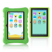 New!!Yuntab green Q88H 7inch touch screen Kids Tablet , Kids Software Pre-Installed Educational Game Apps with Chic stand Case