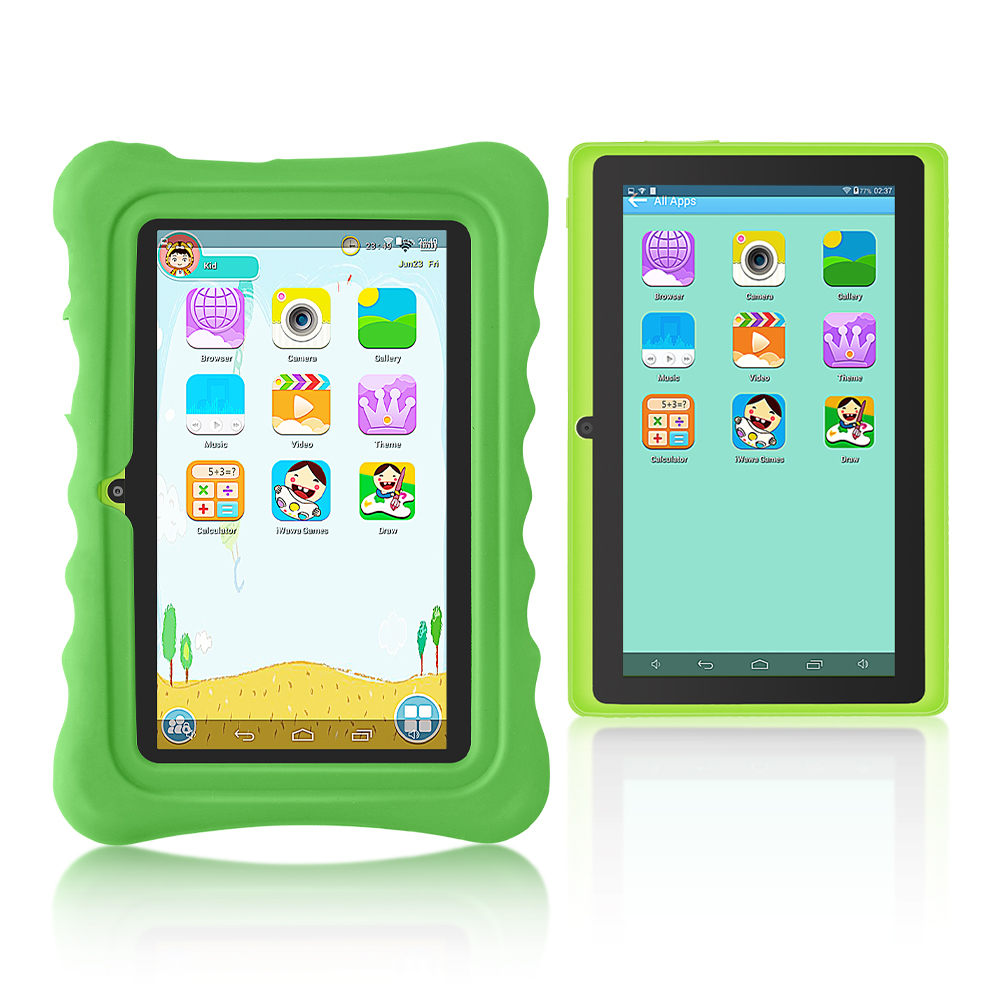 New!!Yuntab green Q88H 7inch touch screen Kids Tablet , Kids Software Pre-Installed Educational Game Apps with Chic stand Case new 7 inch tablet pc mglctp 701271 authentic touch screen handwriting screen multi point capacitive screen external screen