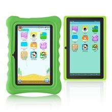 Новинка! yuntab зеленый Q88H 7-дюймовый сенсорный экран Детские планшеты, дети Программное обеспечение Предварительно установлено образовательные игры и приложения с шикарным Стенд чехол