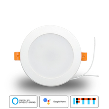 Boazsmart 4 inch WiFi Smart Led Downlight 10w RGBW Color Changing Voice APP Control Works with Alexa Google Home Assistant IFTTT
