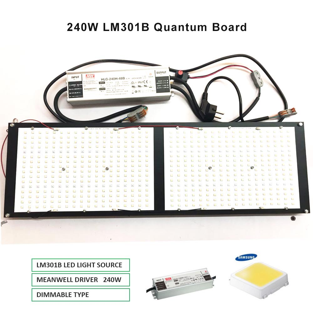 2019 Newest Dimmable 288 Samsung Lm301b 3000K 3500K 660nm Red Quantum Board Led Grow Light Full Spectrum