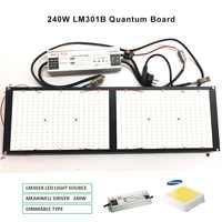 2019 nuevo Dimmable 288 Samsung lm301b 3000K 3500K 660nm tablero cuántico rojo Led Grow Light espectro completo