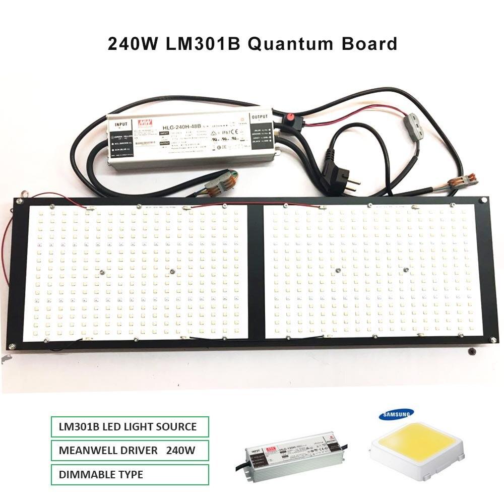 2019 plus récent Dimmable 288 Samsung lm301b 3000K 3500K 660nm rouge quantique conseil Led grandir lumière spectre complet