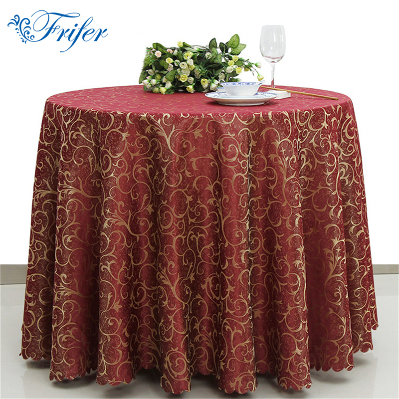 Printed Polyester Round Overlay Tablecloths Oliproof Rectangular Table Cloth Washable Tables Cloths for Weddings Restaurant