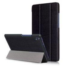 PU Stand Cover Case for Lenovo Tab 3 8 Plus 8703 8703x TB-8703F TB-8703N (TAB3 8 Plus P8) 8.0″ Tablet + 2Pcs Screen Protector