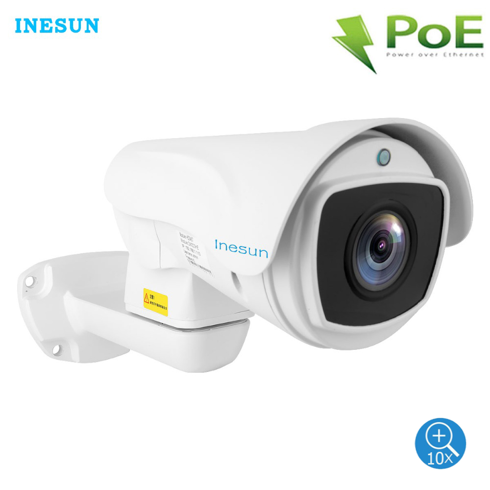 Inesun Outdoor PoE PTZ IP Camera 2MP/5MP Super HD 2592x1944P 10x Optical Zoom PTZ Camera Waterproof 330ft Laser IR Night Vision image