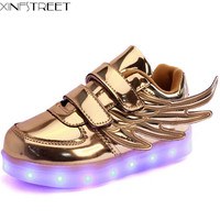 Led Shoes Kids USB Charge Boys Girls Luminate Sneakers Children Shoes With Light Glowing Shoes Size 25 37