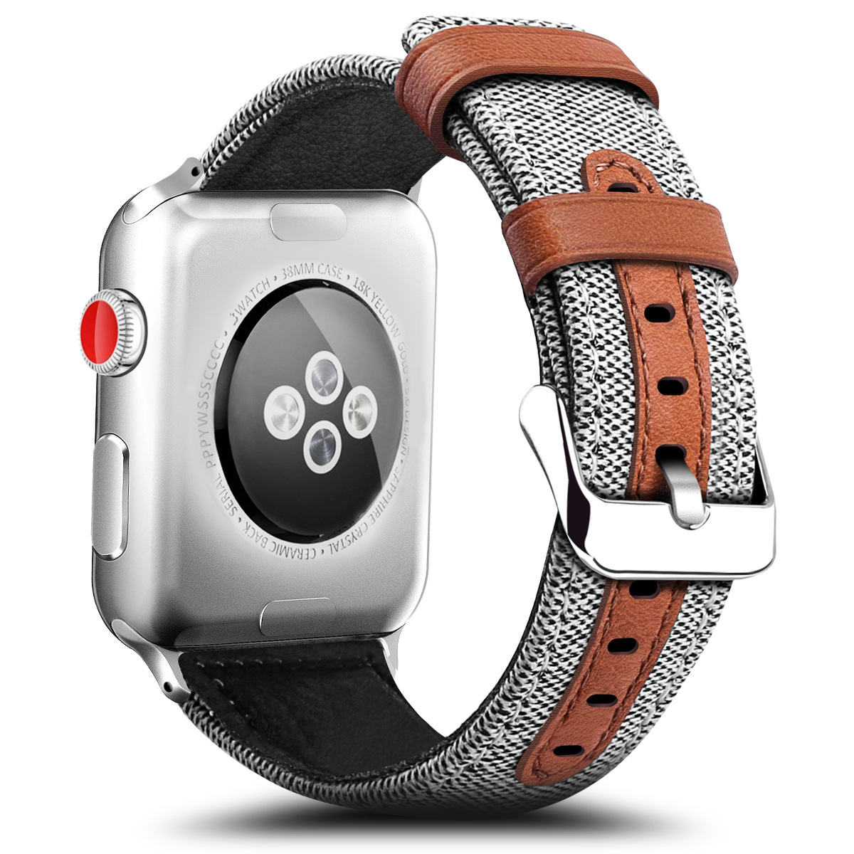 Fashion Fabric And Leather Material Band For Apple Watch 38mm 42mm For IWatch 40mm 44mm Series 2 3 4 5 Strap Watchband Bracelet