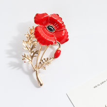 Red Carnation Pin Bunga Bentuk Enamel Bros Pin Fashion Perhiasan Hadiah Hari Ibu(China)