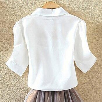 100% algodão blusa das mulheres camisa branca verão blusas camisas férias soltas de manga curta casual tops e blusas mulheres blusas novas 1