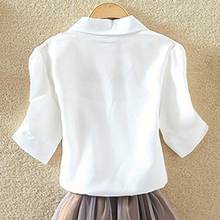 100% Cotton White Summer Blouses
