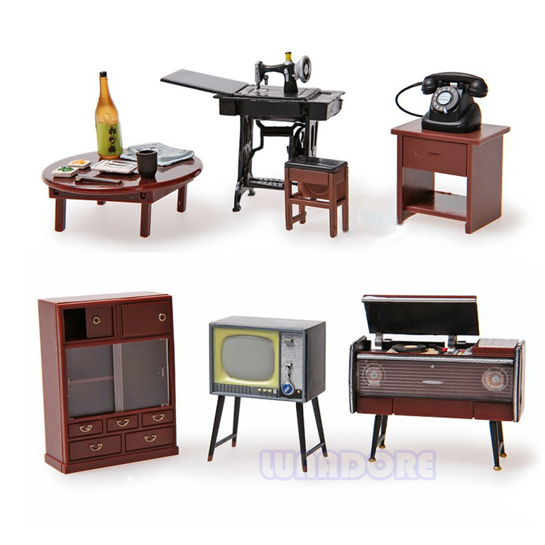 Attractive Odoria 1:24 Japanese Vintage Furniture Dollhouse Miniature Accessories